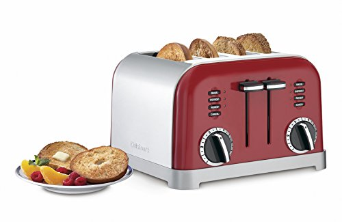 Cuisinart CPT-180MR Metal Classic 4-Slice Toaster, Metallic Red (Specialty Toaster)