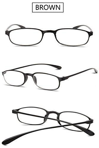 Pequeño 5 Presbicia 0 4 2 3 2 5 Mujer 1 Hombre Ovaladas Negro Leer de Flexibles Gafas Vista Graduadas 3 Gafas 0 Marrón VEVESMUNDO 0 Lectura Retro 1 5 2 0 wYqRR6