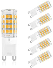 DiCUNO G9 LED Light Bulb 4W 40W Halogen Equivalent 450LM Non-dimmable AC100-240V, 6-Pack