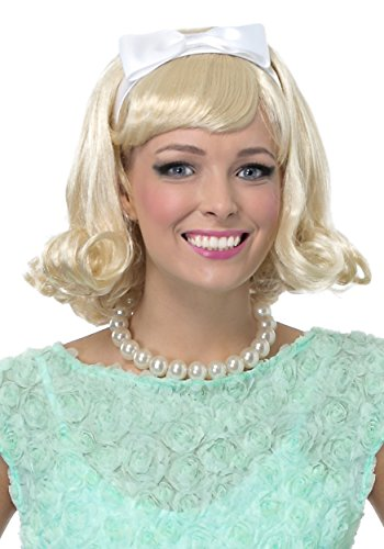 Fun Costumes Blonde 50's Flip Wig Standard ()