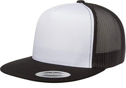 Yupoong Five-Panel Classic Trucker Cap - One Size - Black/ White/ ()