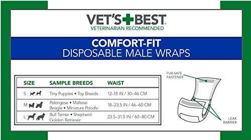 Pictures of Vet's Best Comfort-Fit Disposable Male 2