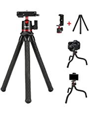 Phone Tripod for iPhone, Cell Phone Tripod for Phone,Smartphone Camera Flexible Mini Travel Tripod for Smart Phone GoPro and Small Camera
