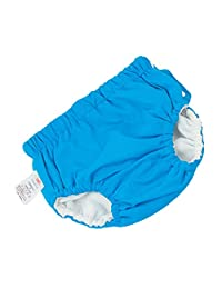 D DOLITY Baby Reusable Swim Pant Diapers Waterproof Pool Pant Swimming Lessones - Blue (for5-10KG), as described
