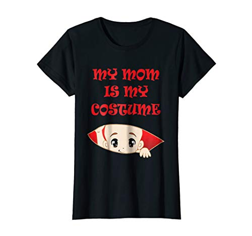 Womens My mom is my costume halloween pregnant T-shirt ()