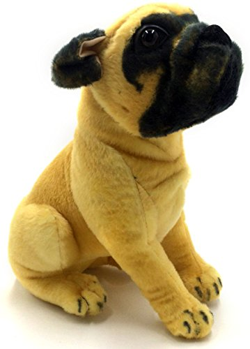 Big Plush Stuffed Dog (Puck the Pug | 15 Inch Large Dog Stuffed Animal Plush Dog | By Tiger Tale Toys)