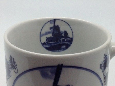 Dutch Gift Delft Windmill Coffee Cup Photo #2