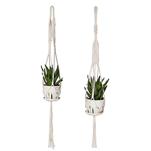 YXMYH Plant Hanger Macrame Hanging Planter Wall Home for Indoor Outdoor Decor 41 Inch, Set of 2 (Decor Outdoor Boho)