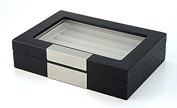 20 CUFFLINK CASE RING STORAGE BOX CUFF LINKS JEWELRY WOOD DISPLAY 412020