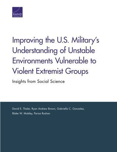 Improving the U.S. Military's Understanding of Unstable Environments Vulnerable to Violent Extremist Groups: Insights from Social Science by David E. Thaler (2013-12-18)
