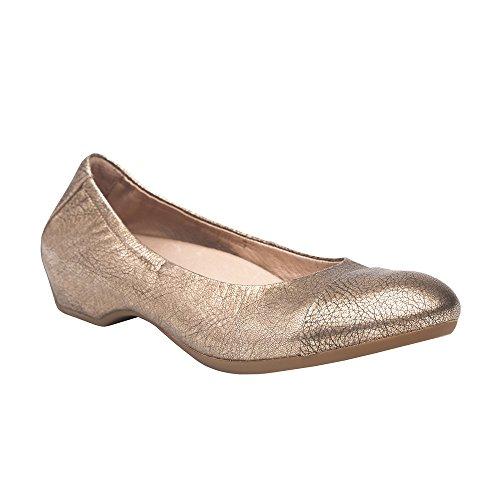 Gold Nappa Footwear - Dansko Women's Lisanne Flat Gold Nappa Size 38 EU (7.5-8 M US Women)