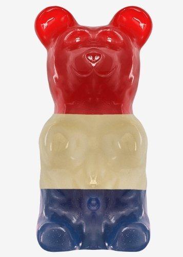 World's Largest Gummy Bear, Approx 5-pounds Giant Gummy Bear - Patriotic