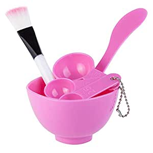 1Set 4 in 1 DIY Beauty Homemade Face Mask Bowl Women Beauty Accessories Tools Mask Brush Stick Gauge