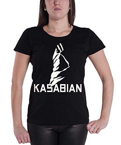 Kasabian T Shirt Ultra Face Official Womens Black Junior Fit -