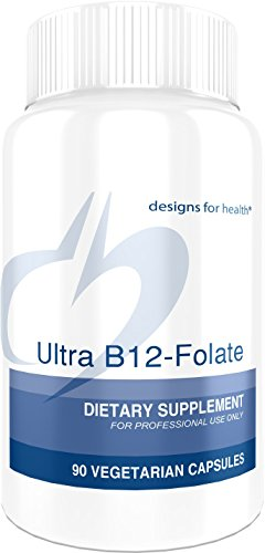 Designs for Health Ultra B12-Folate - 400mcg Active Folate + 2000 mcg Vitamin B12 (90 Capsules)