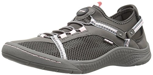 JSport by Jambu Women's Tahoe Encore Walking Shoe, Charcoal/Pink, 8 M US