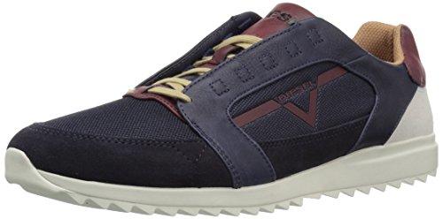 Diesel Men's V-Staffetta S-Fleett Sneaker, Blue Iris/Cordovan Red, 12 M US