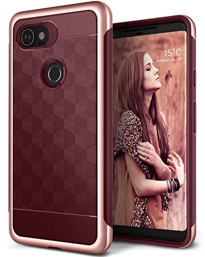 Caseology [Parallax Series] Google Pixel 2 XL Case - [Award Winning Design] - Burgundy