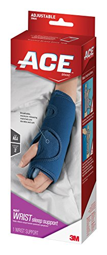 ACE Brand Night Wrist Sleep Support, America's Most Trusted Brand of Braces and Supports, Money Back Satisfaction Guarantee - Ace Brace
