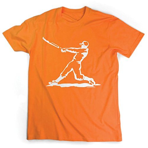 Baseball Jersey Orange Axl (Baseball Player T-Shirt   Baseball Tees by ChalkTalkSPORTS   Orange   Adult X-Large)
