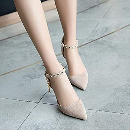 Asumer black pink beige fashion women pumps pointed toe