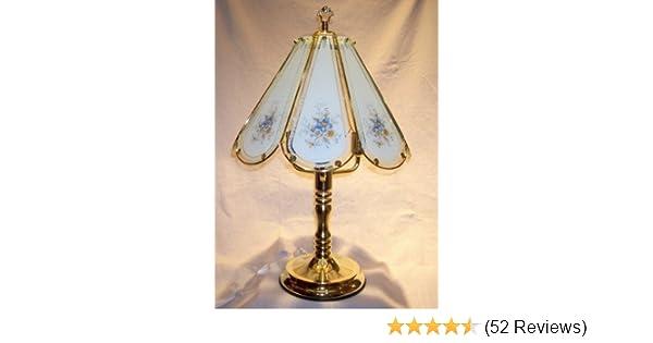 Blue flowers touch lamp table lamps amazon com