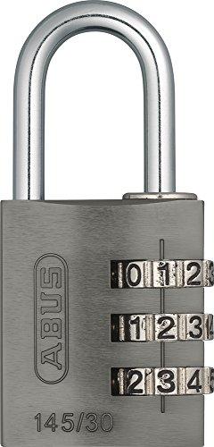 Abus Aluminium-Zahlenschloss Vorhangschloss 145/20 titanium 46622