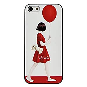 QHY Red Skirt Girl Pattern Hard Case for iPhone 5/5S