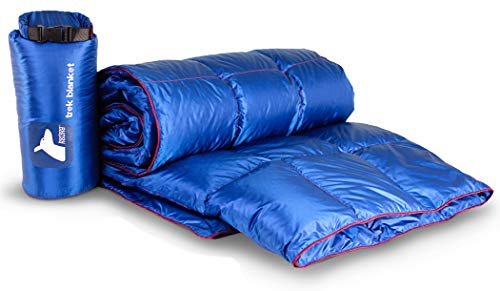 Horizon Hound Down Camping Blanket - Outdoor Lightweight Packable Down Blanket Compact Waterproof and Warm for Camping Hiking Travel - 650 Fill Power