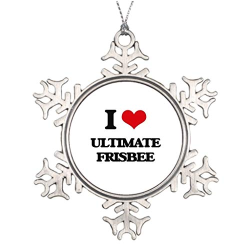 Decorated Tree Ultimate (Blafitance Xmas Trees Decorated Waterford Snowflake Ornaments I Love Love Ultimate Frisbee Personalised Christmas Tree Decoration)