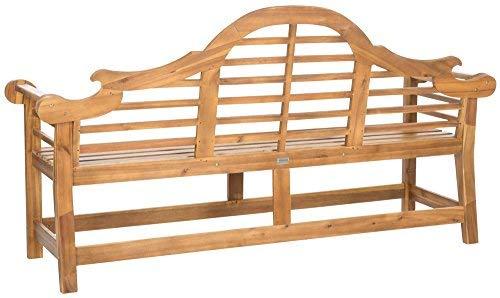 Safavieh Patio Collection Felicity Adirondack Acacia Wood Bench, Natural by Safavieh (Image #2)