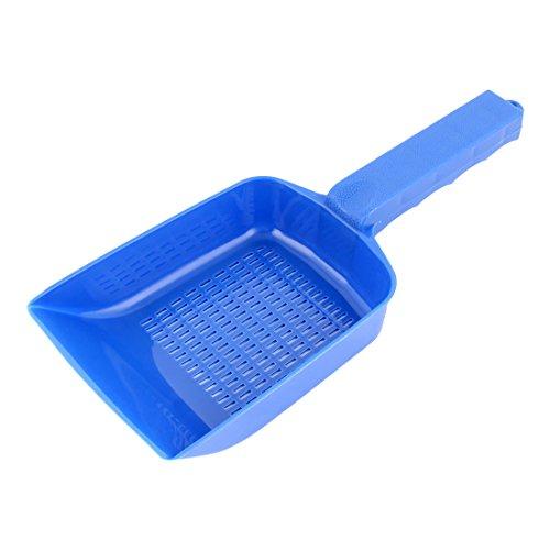 uxcell Plastic Gravel Strainer Shovel Clean Tool Blue for Aquarium Fish Tank (Gravel Plastic)