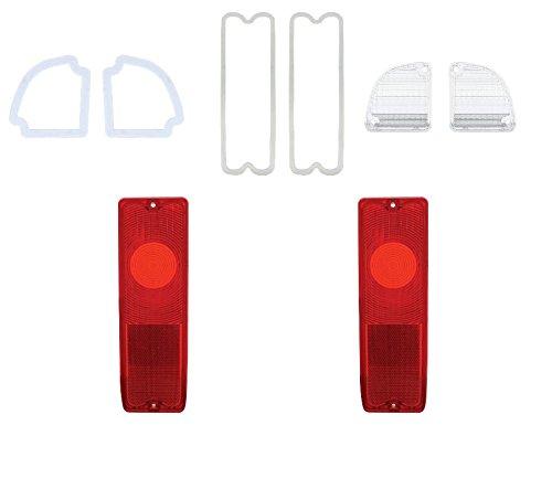 Pair 67-72 Chevy Truck Fleetside Tail Light Reverse Back Lamp Lenses Gaskets