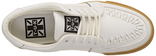 Leath Creeper Baskets Basses Blanc U WHT K White VLK Leather Gum Sneaker T Adulte Sole Mixte vtYAqwzTTn