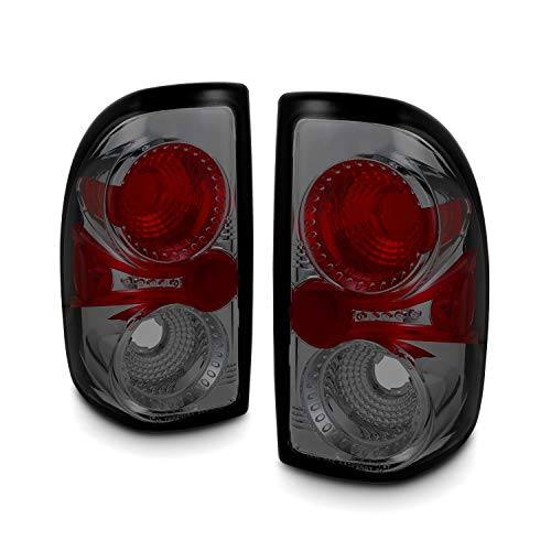 For Dodge Dakota Pickup Truck Rear Tail Lights Signal Brake Lamps Smoked Lens Pair Completed Set ()