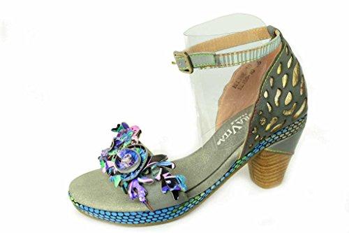 Laura Vita Beline 10-2 - Sandalias de vestir para mujer gris