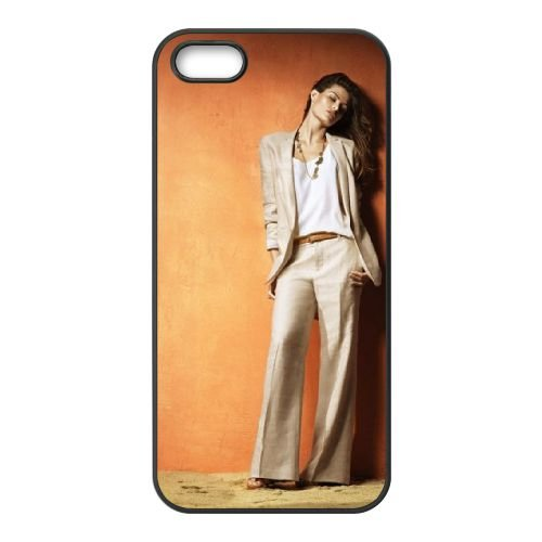 Isabeli Fontana coque iPhone 4 4S cellulaire cas coque de téléphone cas téléphone cellulaire noir couvercle EEEXLKNBC25991