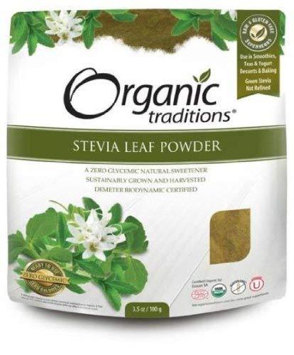 Organic Traditions, Stevia Leaf Powder, 3.5 oz (100 g) -