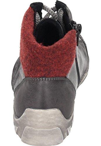 Gris Fumo Femme Baskets Bordeaux Asphalt Hautes 46 Rieker L6545 nHW4TwI