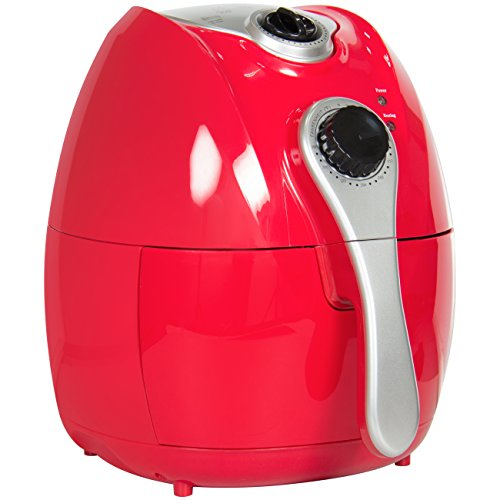 Best Choice Products Electric Air Fryer With Rapid Air Circulation, Temperature Control, Timer, Detachable Basket Red