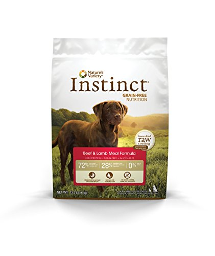 Instinct Original Grain Free Beef & Lamb Meal Formula Natural Dry Dog Food By Nature'S Variety, 13.2 Lb. Bag