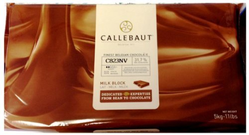Callebaut Finest Belgian Milk Chocolate, 11 Pound