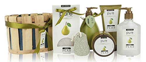 Pure-Rachelle-Parker-Luxury-Pear-Spa-Gift-Basket-Deluxe-Edition-Super-Size-Wrapped-Ready-to-Gift