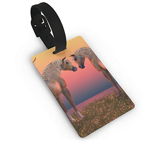 Diemeouk Luggage Tags for Suitcases Horse Sun Animal