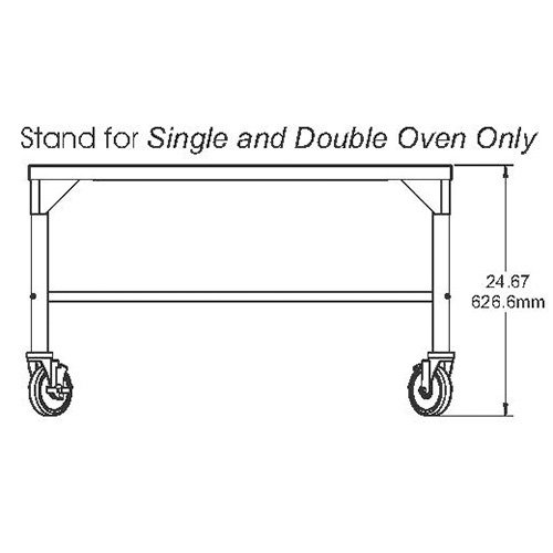 Stand for Middleby Marshall Digital Countertop Conveyor Ovens - Single or Double Stack by Middleby Marshall