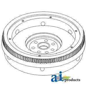Flywheel w/341604R1 Ring Gear(W/DT466 DSL) Replacement for Cas…