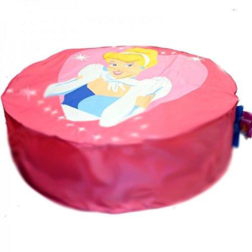POUF géant ROSES Disney diam 110 cm motif Princesse pas cher FABRIQUE EN FRANCE