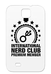 Geek Member IQ Games Geek Gaming Student Freak Funny Computer Club Black TPU International_nerd_club_f1 Case For Sumsang Galaxy S4