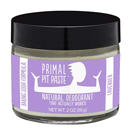Primal Pit Paste All-Natural Lavender Deodorant | 2 Ounce Jar | Aluminum Free, Paraben Free | Made for Women and Men of All Ages | Non-GMO, Cruelty Free, Earth Friendly, BPA Free