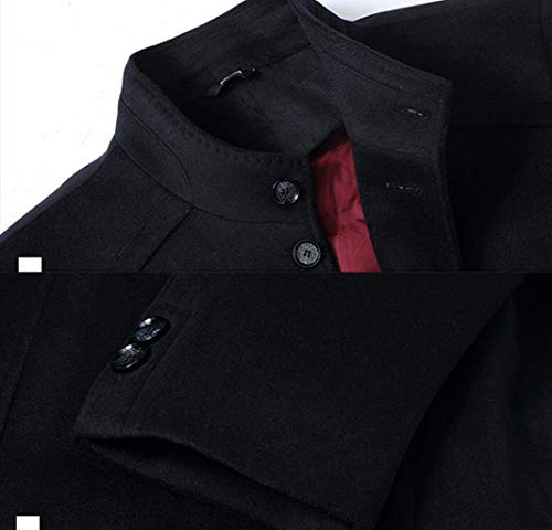 M Hommes D'automne D'hiver Et Chaude S 4xl Manteau Épaisse couleur Bas Le Qkdsa Des Vers De Laine Veste Noir Gray Taille qScw4H